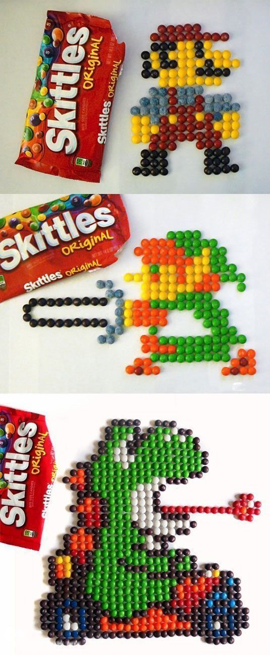 Nintendo characters recreated with Skittles [/r/gaming] http://www.linkalope.com/r/gaming/1xfz7i