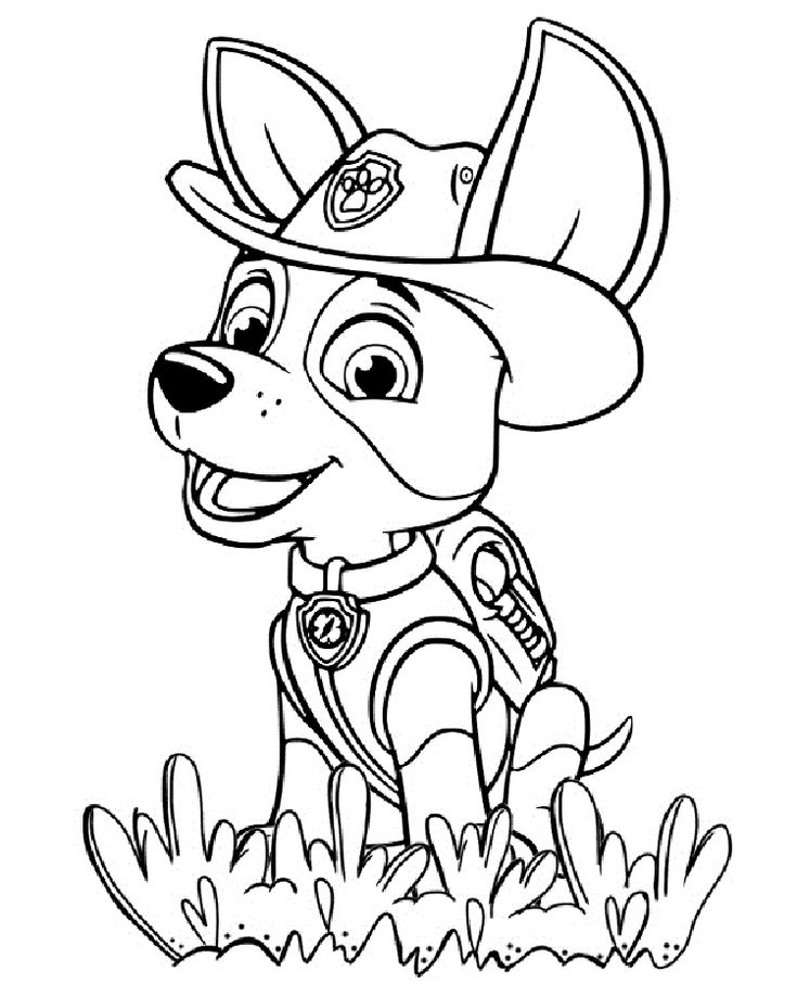 Paw Patrol Coloring Pages Tracker Artsy Fartsy Paw