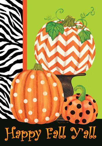 Custom Decor Flag - Chevron Pumpkin Decorative Flag at Garden House Flags at GardenHouseFlags