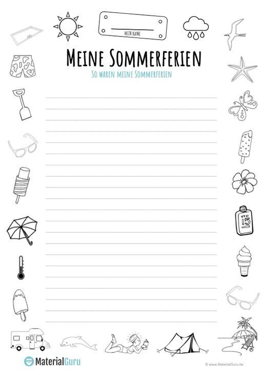 Aufsatz Sommerferien