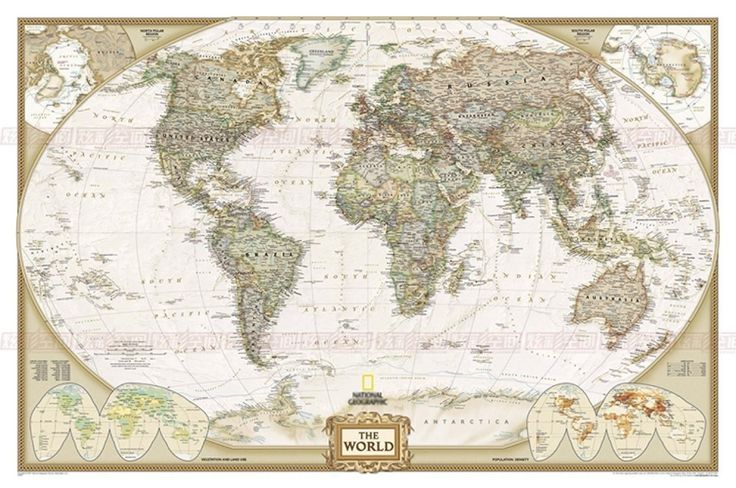 """Antique World Map Canvas Large Poster Unframed Home Office Decor 59.1""""x39.4"""""""