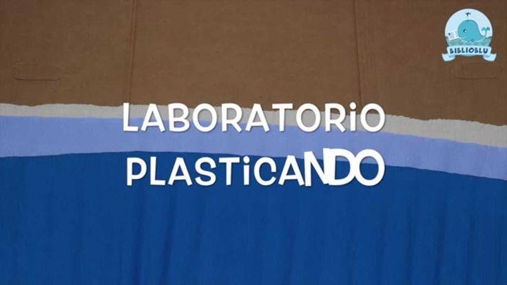 BiblioBlu - Plasticando  Laboratorio educazione ambietale per l'infanzia. Tartarughe di mare Caretta Caretta raggiungono la spiaggia per deporre le uova. Cartone animato.