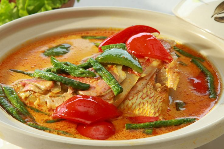 Gulai Kepala Ikan Kakap Minang (Minangkabau Fish-Head Curry)