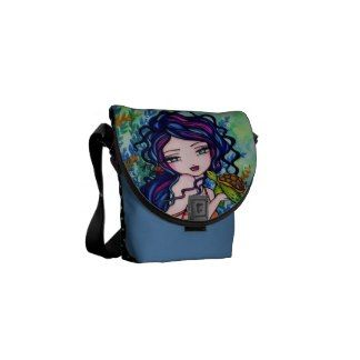 Sea Turtle Mermaid Ocean Mini Messenger Bag