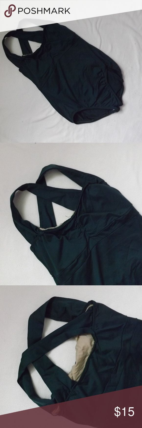 Green Leotard it looks black in the picture, but it is a forest green color Capezio Intimates & Sleepwear Shapewear