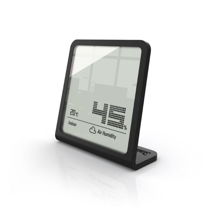 Selina Black Hygrometer - Measures Humidity And Temperature Simultaneously