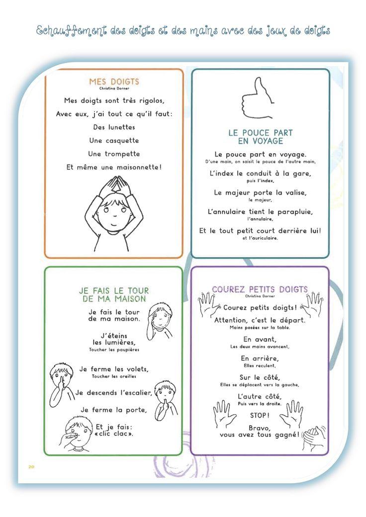 Gym des doigts avant de commencer une activité d'écriture - La classe de Luccia !