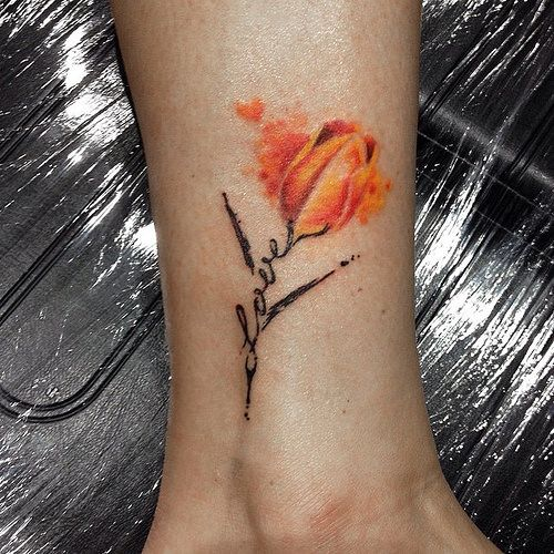 Watercolor tulip tattoo | Flickr - Photo Sharing!
