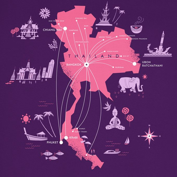 Thai Airways for Monocle Magazine | Designer: Lab Partners