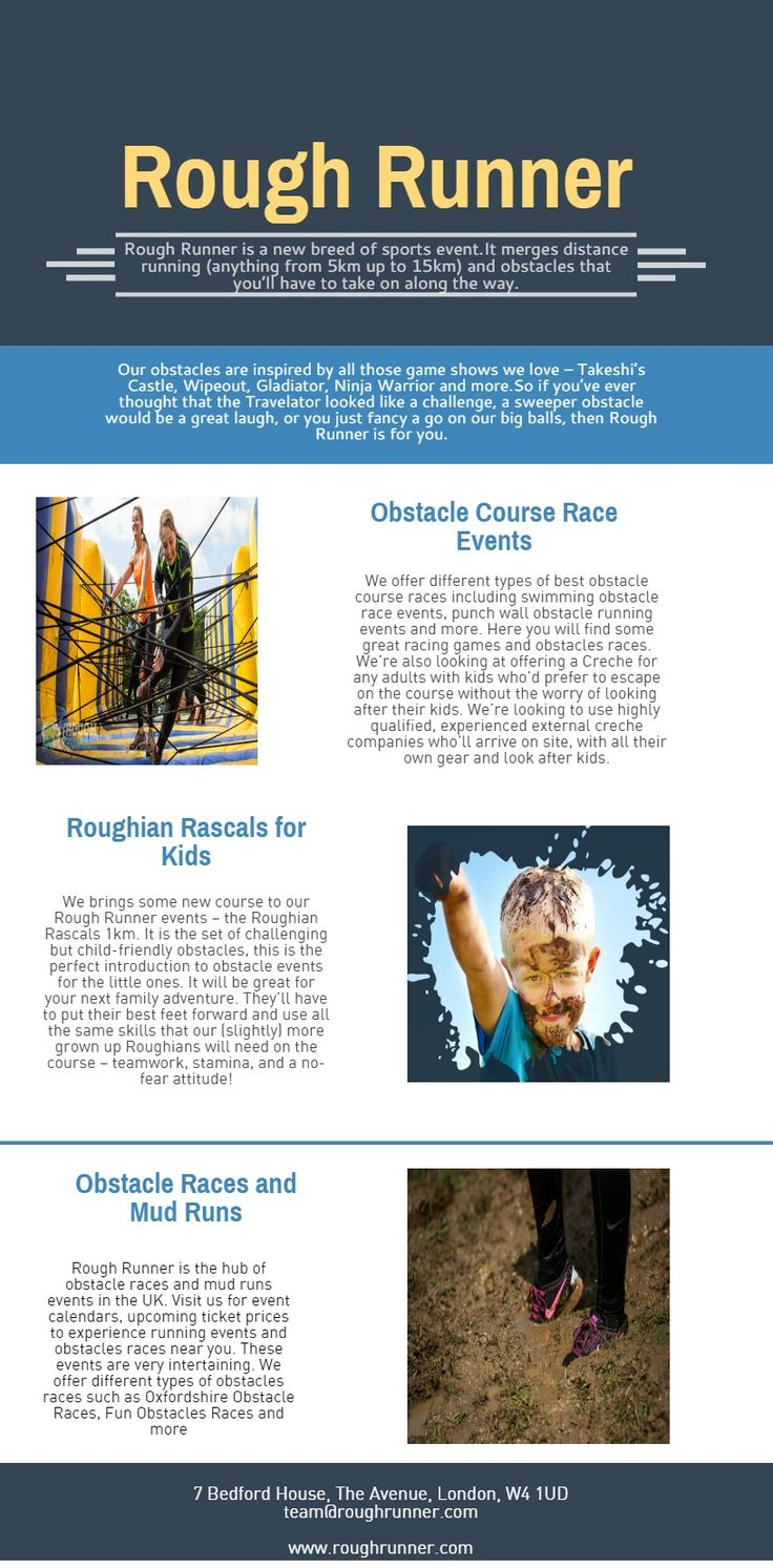 A calendar of obstacle races around the UK including fun obstacle races, the obstacle course for kids, running events calendar and other obstacle based events. Contact us: http://roughrunner.com/events/