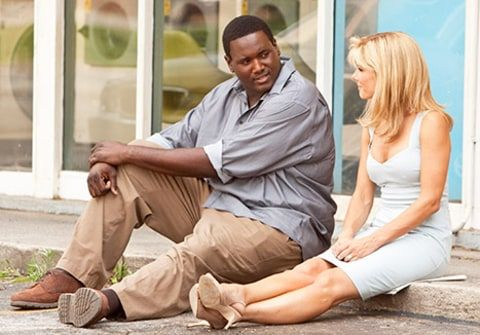 Sandra Bullock and Quinton Aaron, The Blind Side (2009).