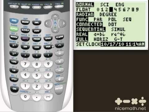 TI 84 Plus Basics Part 2