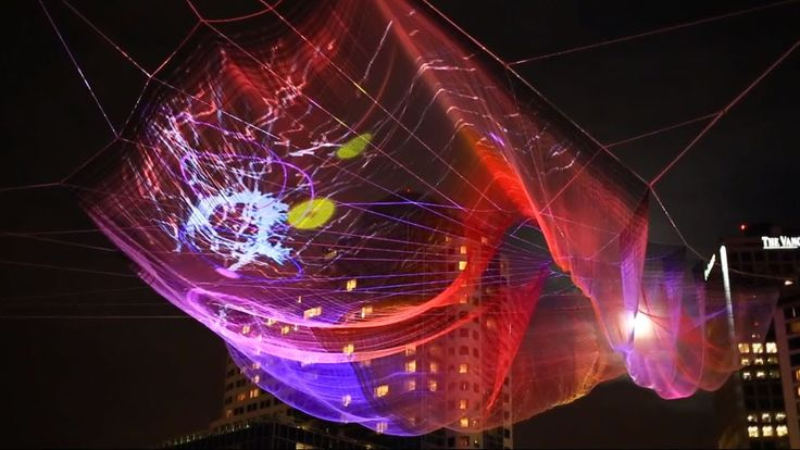 Unnumbered Sparks - a large scale itneractive sculpture for TED's 30th Anniversary in Vancouver