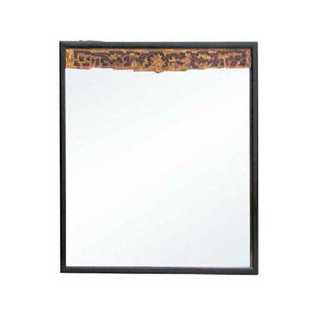 Espejo con arco tallado y marco negro Ancho 116 / Fondo 5 / Alto 120
