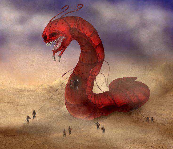 the mongolian death worm by tweek278