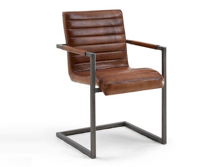 SABINA Schwingstuhl mit Armlehnen Stahl/Eisen & Leder High-End-Qualität von Bodahl Einzigartig, modern, bequem: Sabina ist ein Lederstuhl, der neue Wege geht. Sitzmöbel mit Lederbezügen machen jede Umgebung ein wenig heimisch und zur...