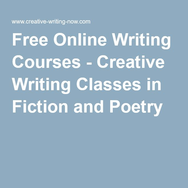online creative writing university courses