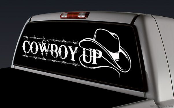 Truck rear window stickers this auction is for the graphic above after you know