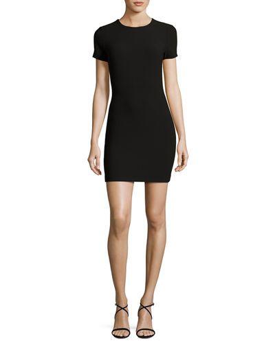 Manhattan Fitted Short-Sleeve Mini Dress
