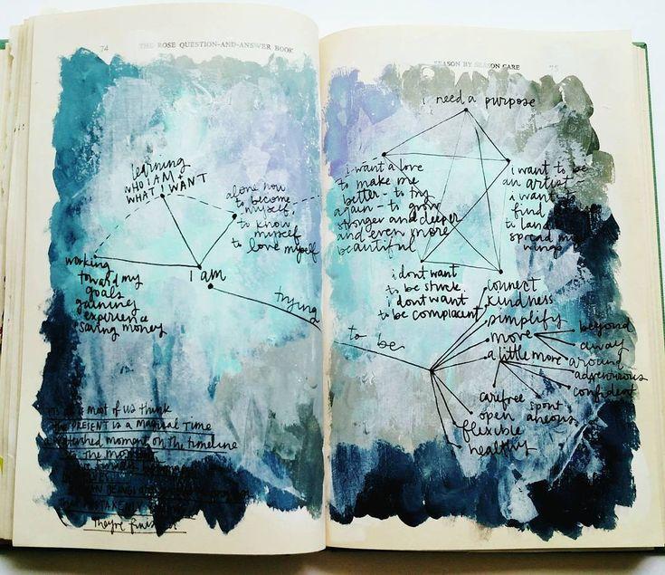 @stitchandletter | Instagram | Season of Introspection | Get Messy Art Journal