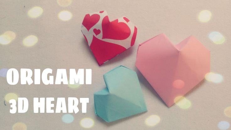 Origami facile - Coeur en origami  - Coeur en papier