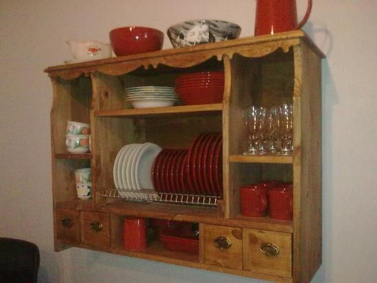 DIY Small Dish Cupboard Take - The Design Confidential & 52 best Plate Holder Plans - Plate Rack Plans - Plate Wall Racks ...
