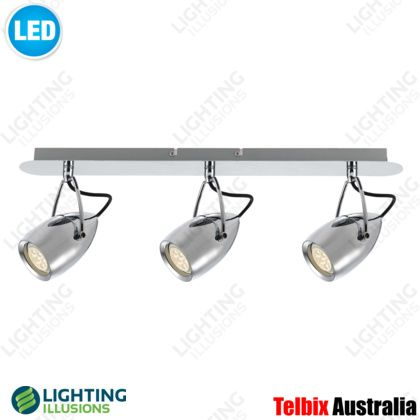 3 Light Tolosa Chrome LED Adjustable Wall / Ceiling Spotlight -  Lighting Illusions OnlineTV ROOM  -