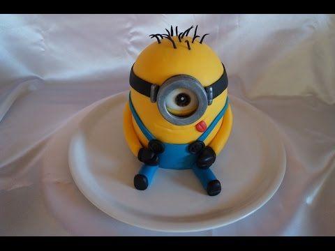 Minion-Cake-Tutorial / Motivtorte / Fondanttorte - YouTube