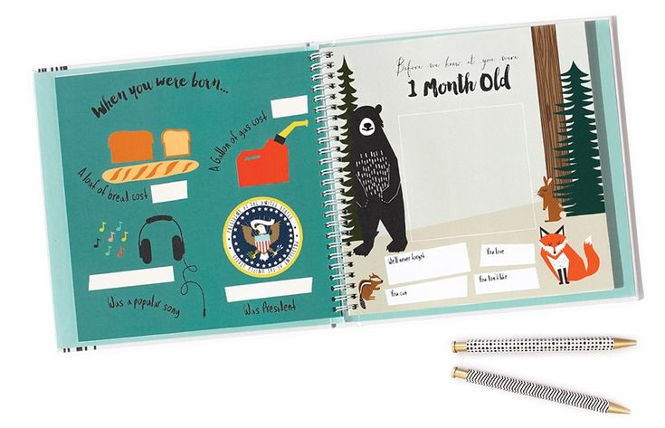 Awesome baby memory books that are a little more modern than most.