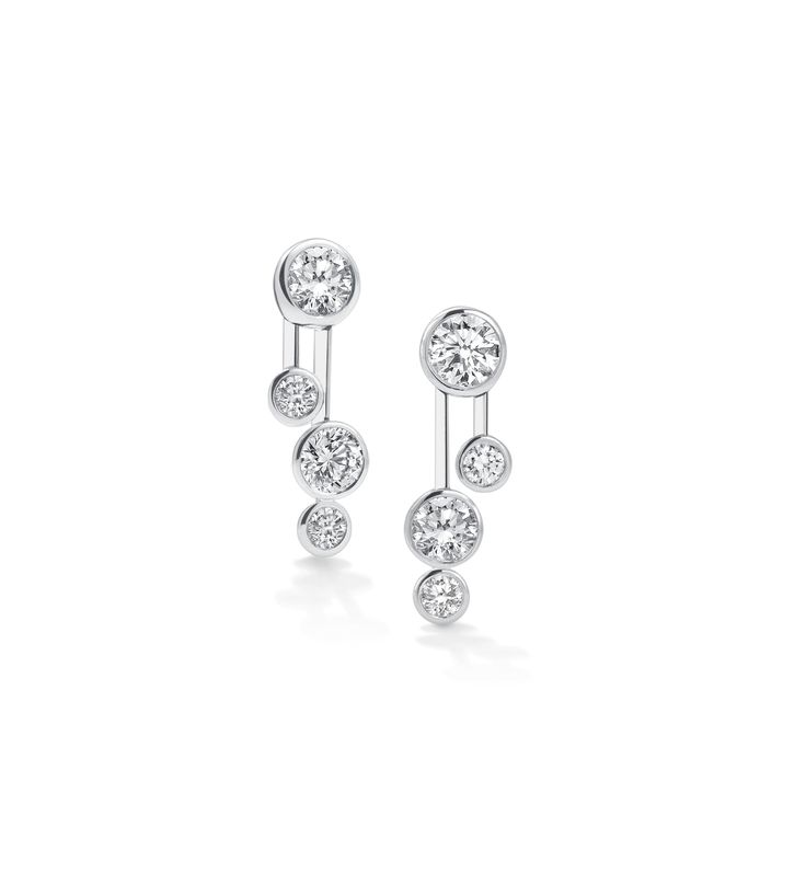 Boodles 'Raindance' double drop earrings, each with four diamonds, £11,500