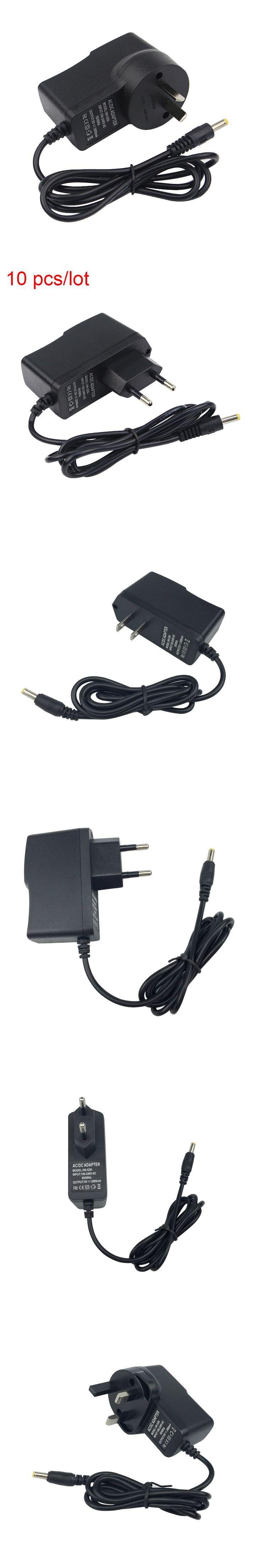 10pcs/lot 5V2A Power Charger Adapter DC 4.0 mm Port EU/US/UK/AU Plug Power Supply For Orange Pi One Plus 2 PC Banana Pi M1 M2