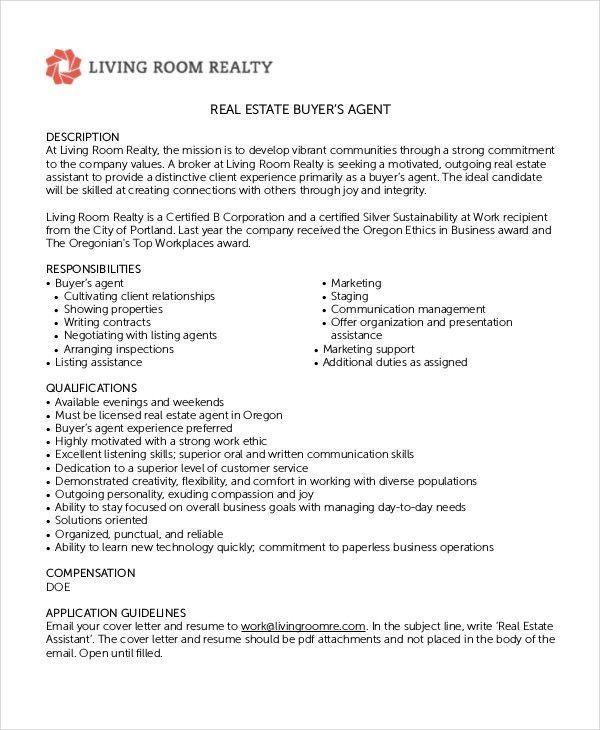 Real Estate Agent Job Description For Resume Uncommon Real Estate