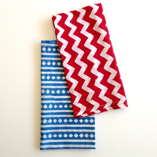 Red and white chevron design pack of 4 $25
