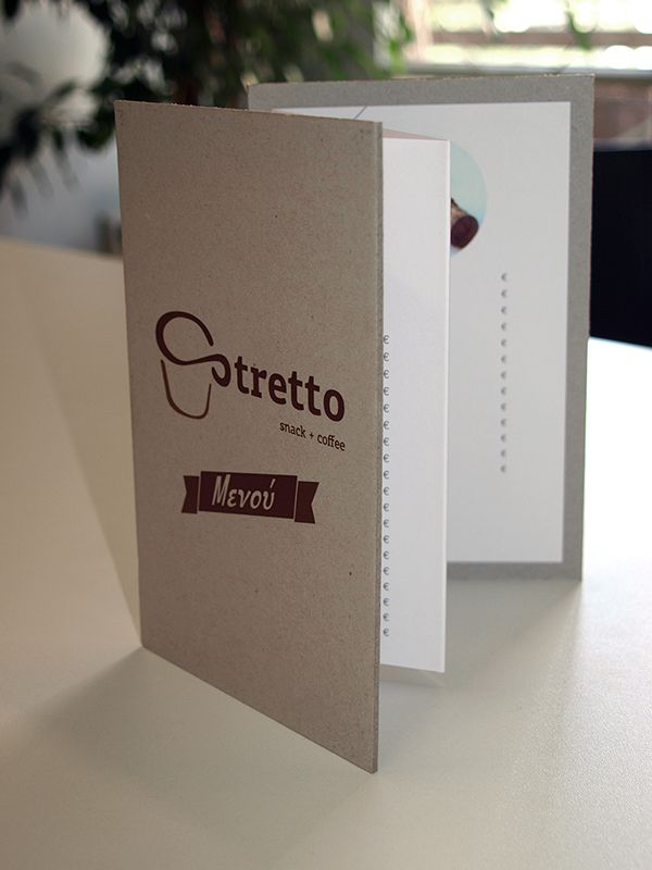 Stretto Coffee Shop Menu on Behance