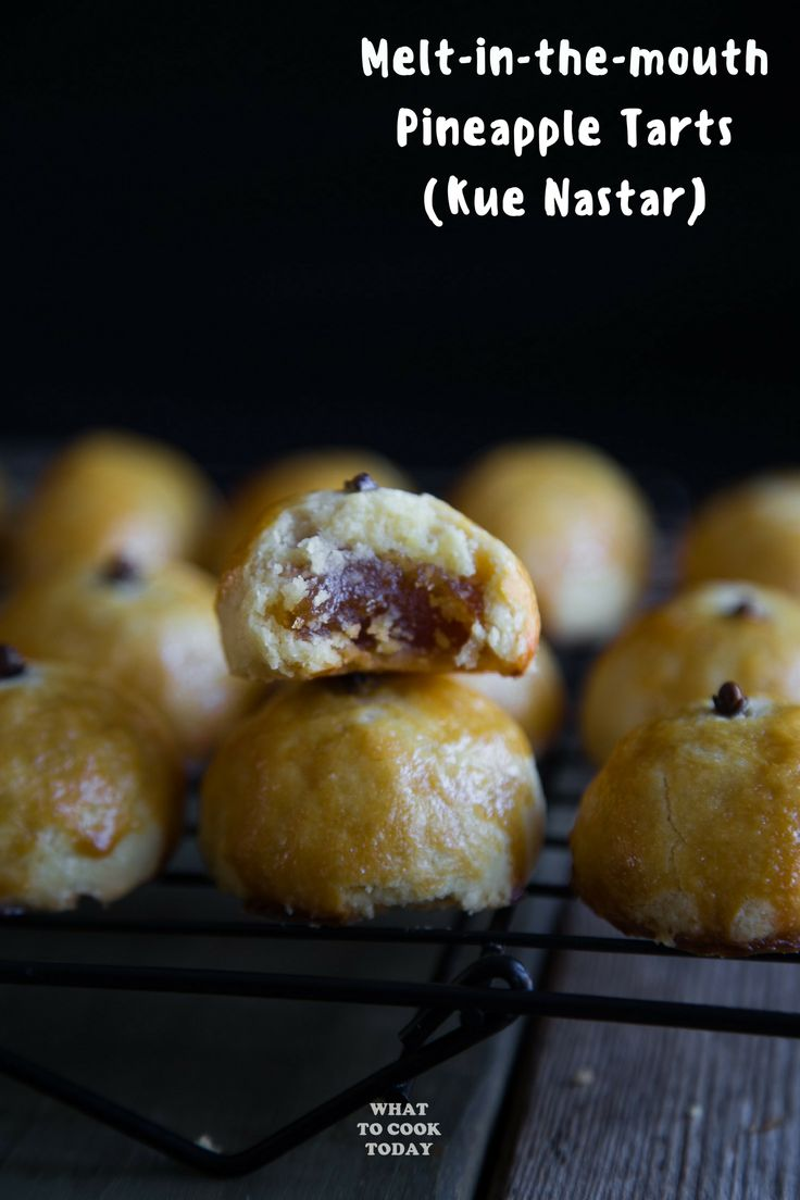 Kue Nastar (Pineapple Tarts) - Melt-in-the-mouth P…Edit description