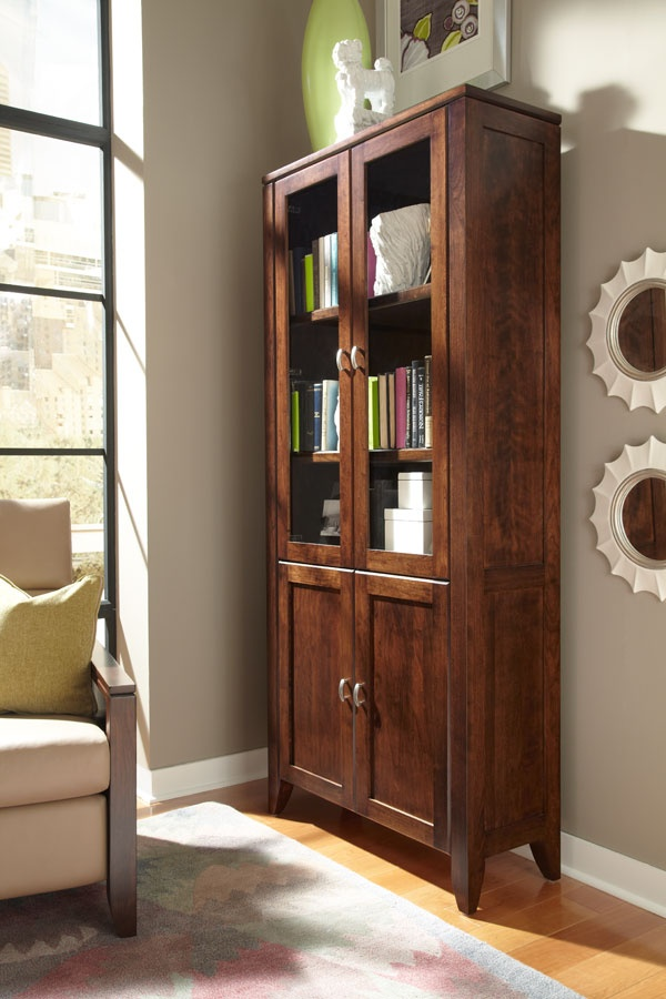 Justine Bookcase With Doors Handcrafted By Simply AmishGet This At  Woodquarters In Raleigh, NC. New FurnitureAmish ...