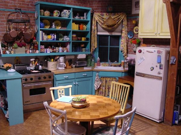 The mix of chairs around Monica's kitchen table varied over the seasons.