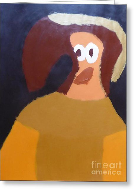 Patrick Francis Greeting Card featuring the painting Portrait Of Marianna Of Austria 2015 - After Diego Velazquez by Patrick Francis