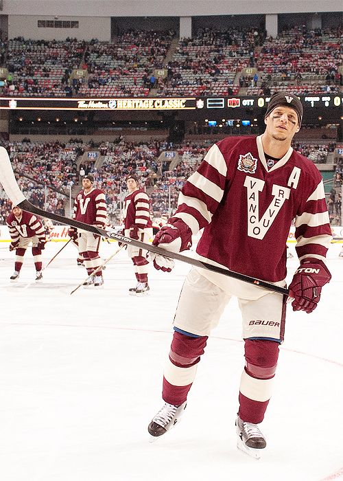 Kevin Bieksa • Vancouver Canucks (Vancouver Millionaires sweater for the Heritage Classic)