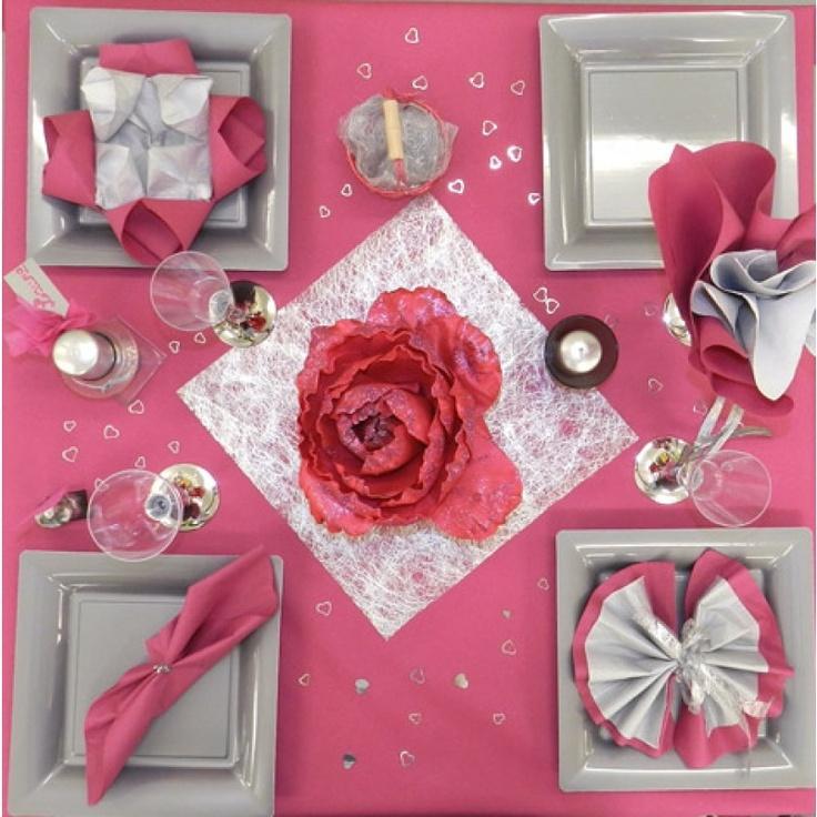 114 best Mariage Rose et Gris images on Pinterest | Table ...