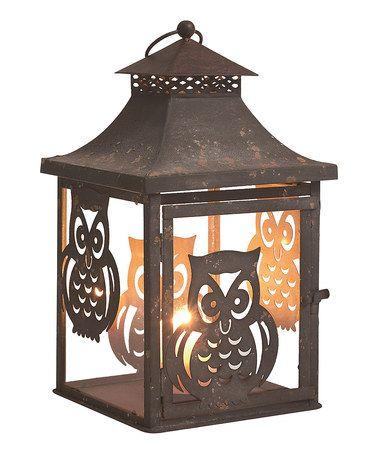 Look at this #zulilyfind! Metal Owl Lantern #zulilyfinds