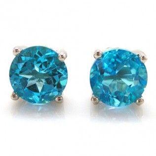 Cercei pietre pretioase naturale Topaz Blue Studs 4,60 Carate http://www.borealy.ro/bijuterii/cercei/cercei-studs-genuine-blue-topaz-4-60-carate.html