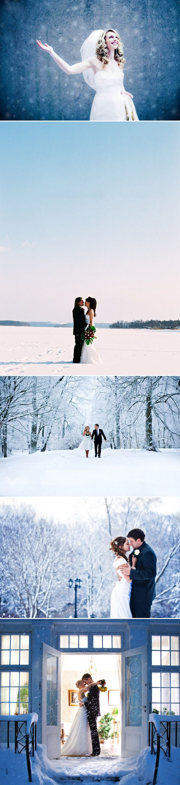 Having a winter wedding isn't the most popular idea, but we are here today to inspire you how dreamy a winter wedding can be.  There is something magical about the environment being covered in fresh snow.  Let the romantic wedding photos below bring you just the warmth and sweetness you need in this lovely season. …