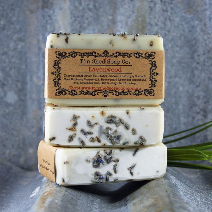 Lavenwood Handmade Essential Oil Soap Created with Shea and Organic Cocoa Butters.