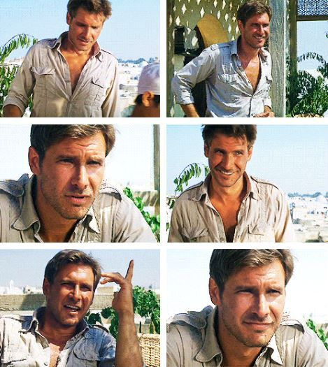 Indiana Jones... my first real crush.   Intelligent, quick witted, handsome, rugged.