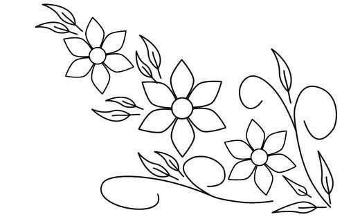 Dibujos flores para bordar a mano - Imagui