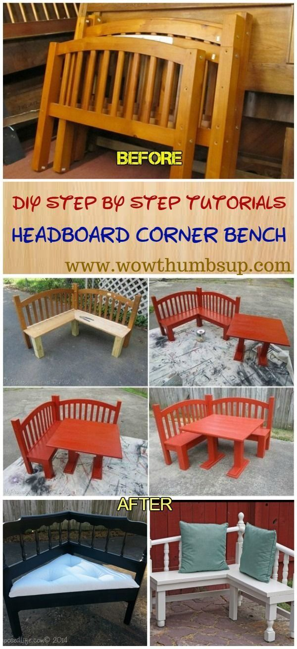 DIY Headboard Corner Bench Tutorials