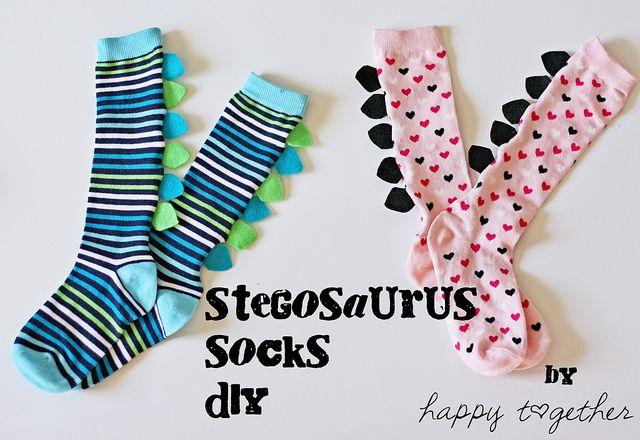 Stegosaurus Socks For Boys and Girls