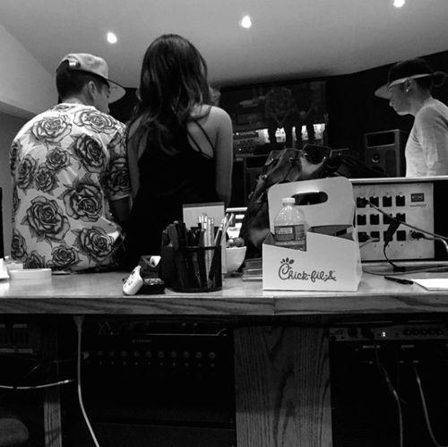 Austin Mahone Becky G Studio 2