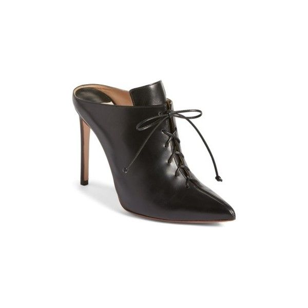 Image: Deal Alert! Women's Francesco Russo Lace Up Mule ❤ liked on Polyvore featuring shoes, laced up shoes, laced shoes, francesco russo shoes, mule shoes and lace up shoes